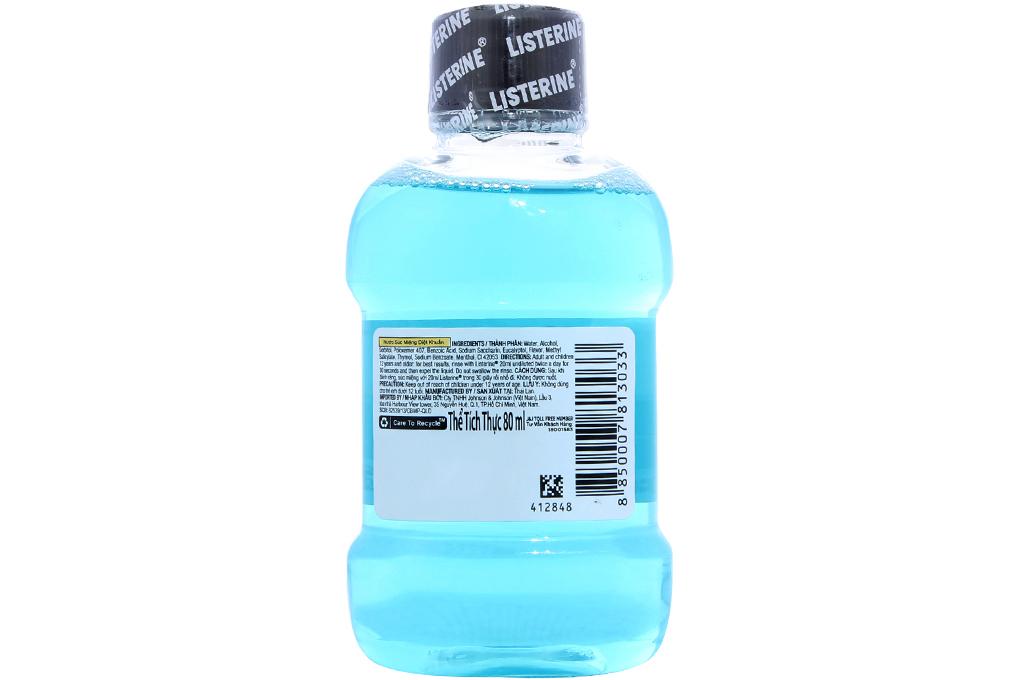 Nước súc miệng Listerine Cool Mint 80ml