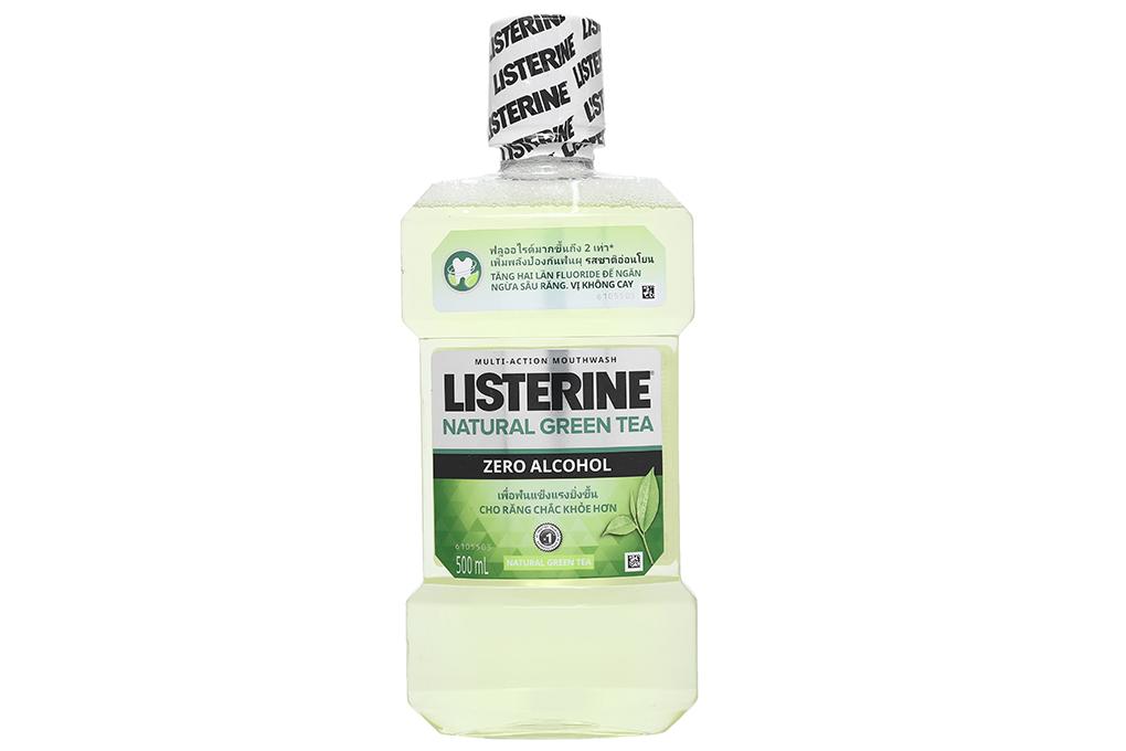 Nước súc miệng ngừa sâu răng Listerine trà xanh 500ml 2