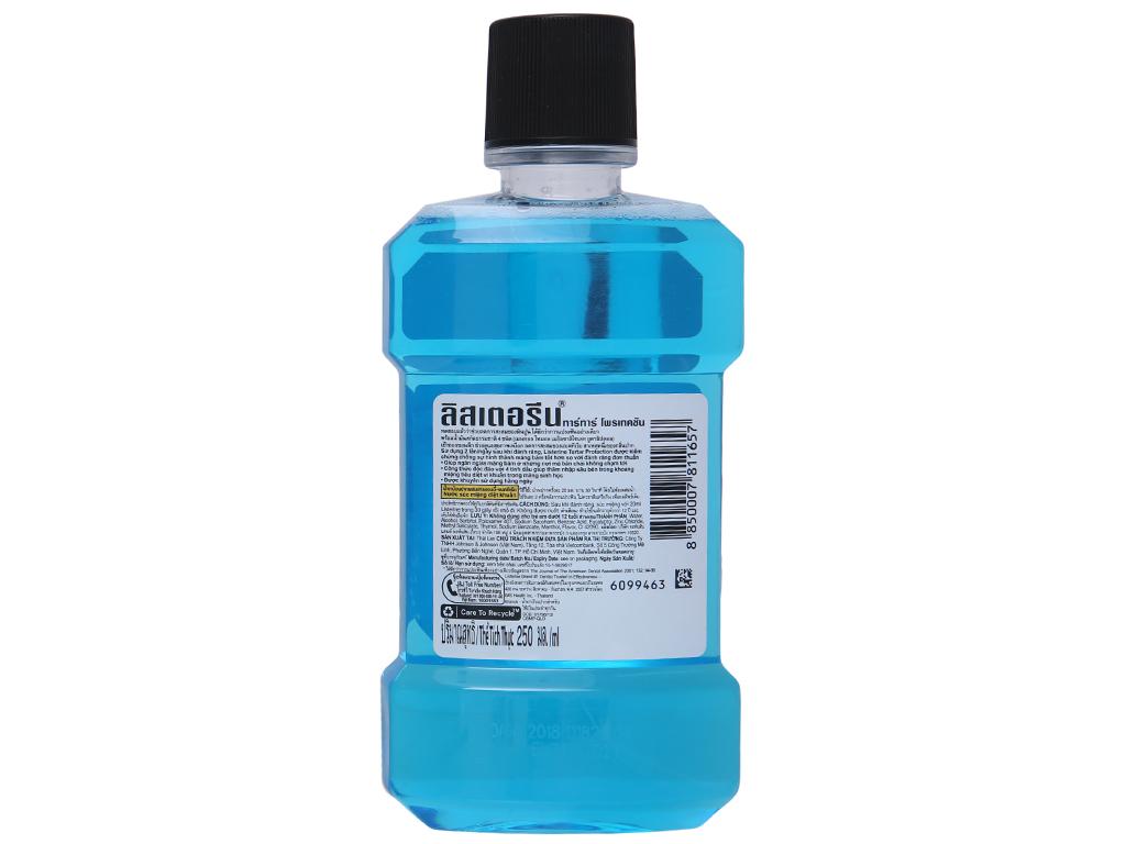 Nước súc miệng ngừa vôi răng Listerine Tartar Protection 250ml 3