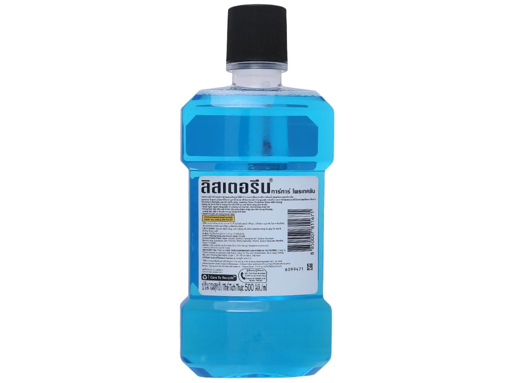 Nước súc miệng ngừa vôi răng Listerine Tartar Protection 500ml 3