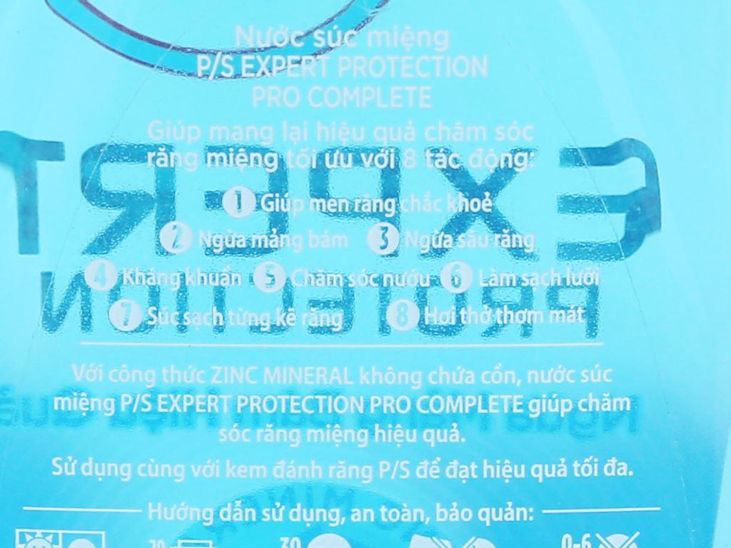 Nước súc miệng P/S Pro Complete 500ml 7