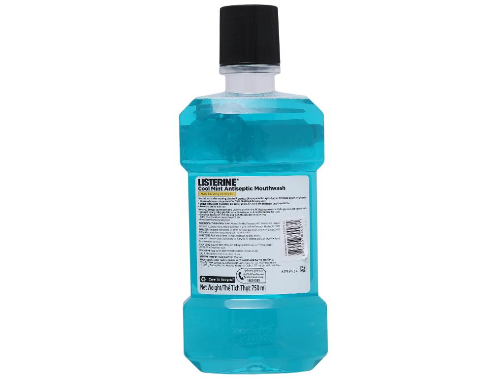 Combo 2 chai nước súc miệng Listerine CoolMint 750ml 5