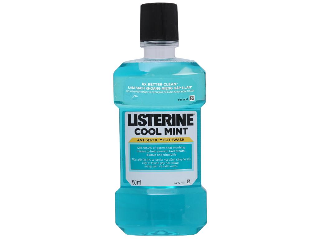 Combo 2 chai nước súc miệng Listerine CoolMint 750ml 4