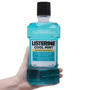 Nước súc miệng Listerine Cool Mint bạc hà the mát 750ml