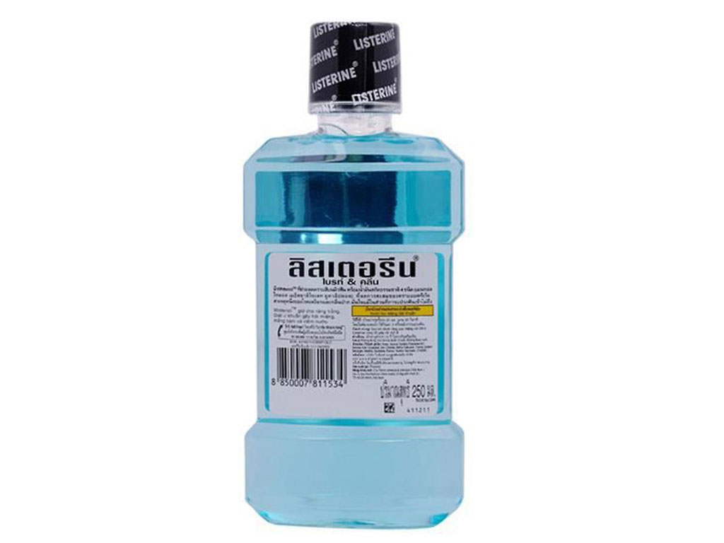 Nước súc miệng Listerine Bright & Clean 750ml 3