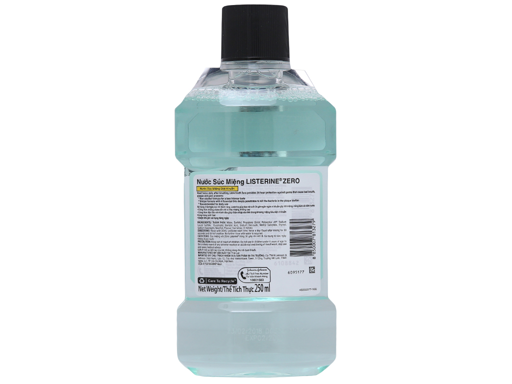 Nước súc miệng diệt khuẩn Listerine Zero 250ml 3