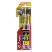 Bộ 2 bàn chải đánh răng Colgate Mềm mảnh lông chải phủ than