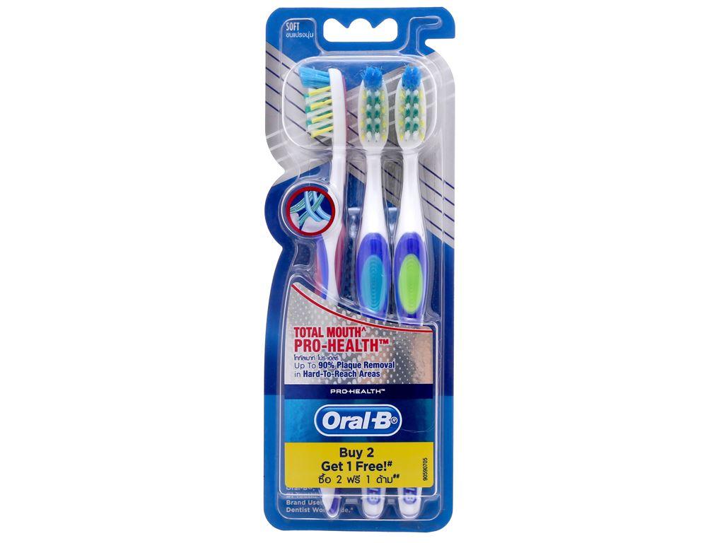 Bộ 3 bàn chải Oral-B Pro Health Total Mouth lông mềm 2