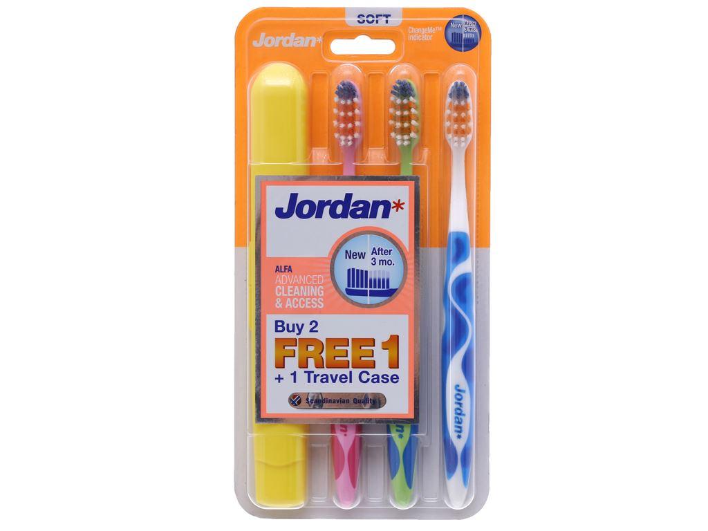 Bộ 3 bàn chải Jordan ALFA lông mềm 2