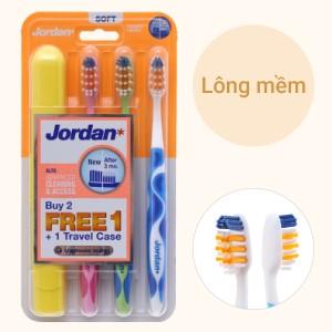 Bộ 3 bàn chải đánh răng Jordan Alfa lông mềm