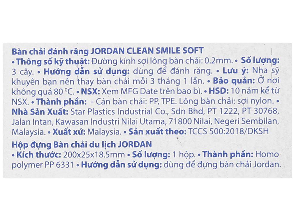 Bộ 3 bàn chải Jordan Clean Smile lông mềm 4