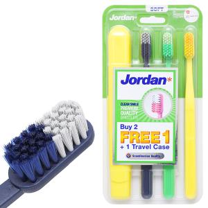 Bộ 3 bàn chải Jordan Clean Smile lông mềm