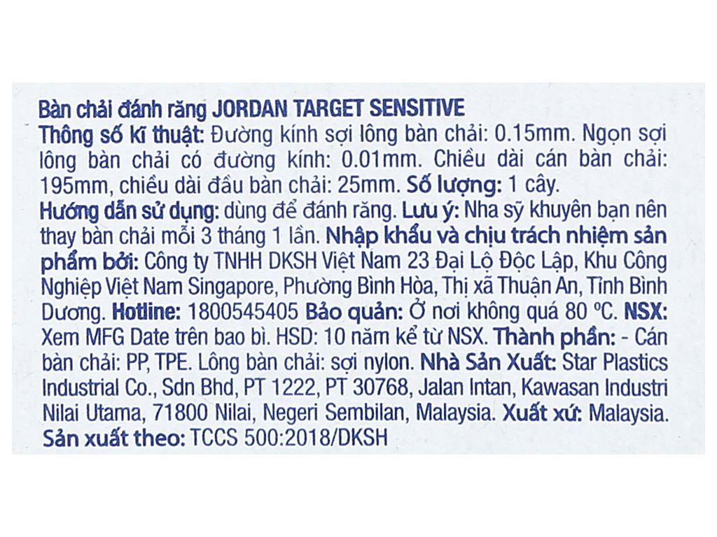 Bộ 3 bàn chải Jordan Target Sensitive lông siêu mềm 6