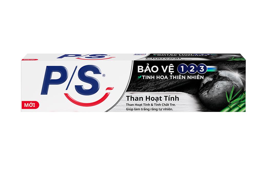 Combo 2 bàn chải đánh rắng P/S than bạc và 2 kem đánh răng P/S than hoạt tính