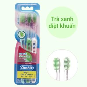 Bộ 3 bàn chải đánh răng Oral-B Green Tea Gum Care lông siêu mềm