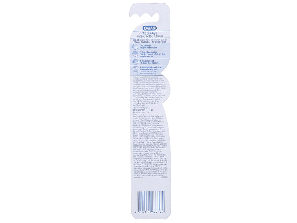 Bàn chải Oral-B Pro Gum Care siêu mềm 3