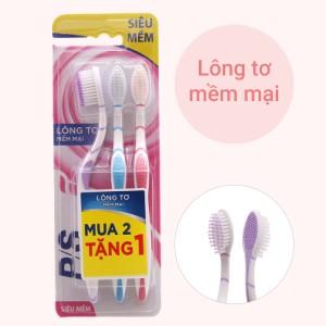 Bộ 3 bàn chải đánh răng P/S lông tơ mềm mại siêu mảnh
