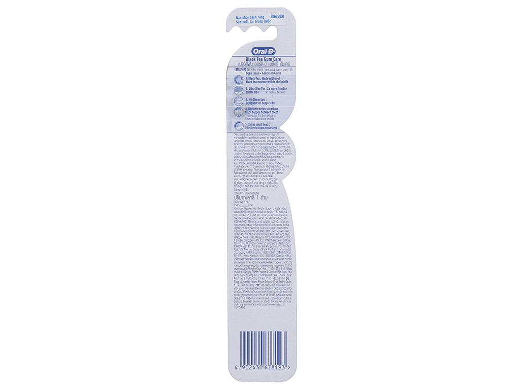 Bàn chải Oral-B Black Tea Gum Care trà đen lông siêu mềm 3