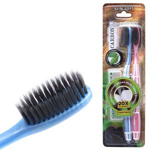 Bộ 2 bàn chải Oral-Clean Carbon lông mềm mỏng
