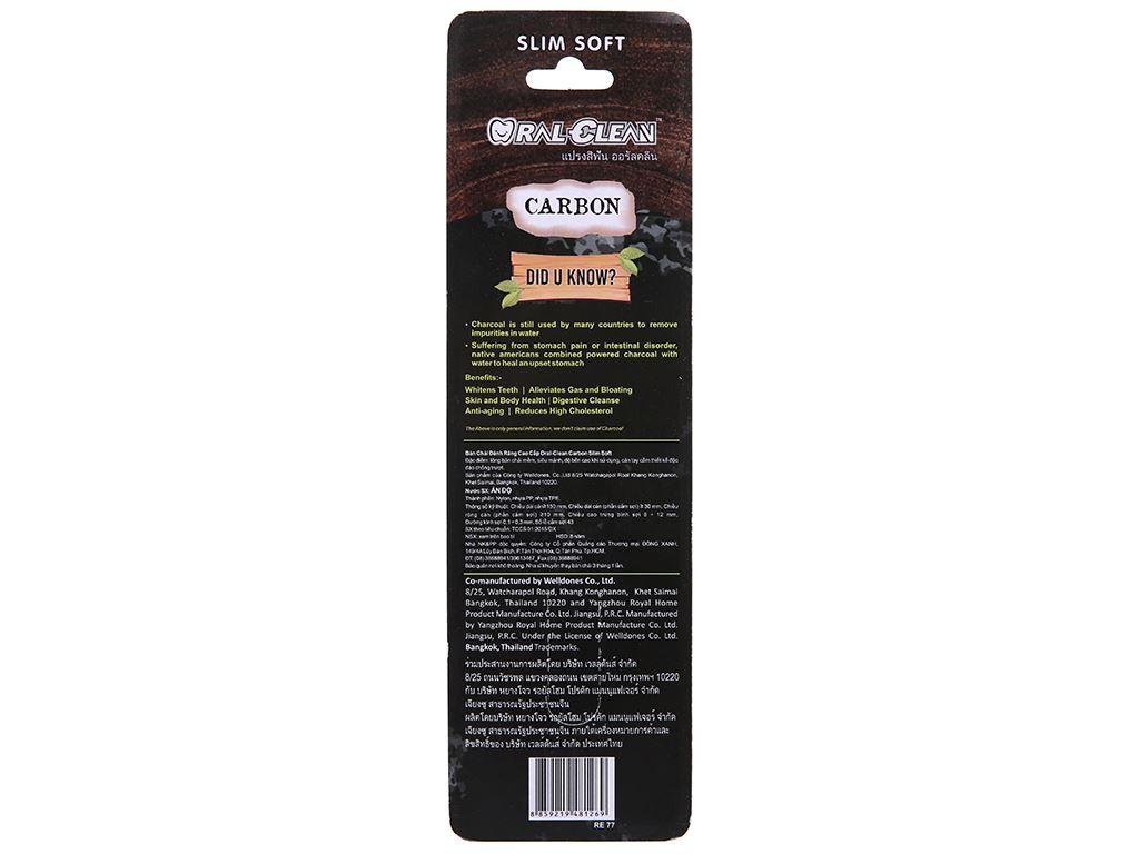Bộ 2 bàn chải Oral-Clean Carbon lông mềm mỏng 3