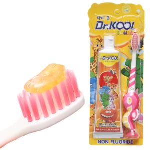 Combo bàn chải & kem đánh răng cho bé Dr. Kool hương cam mềm mảnh