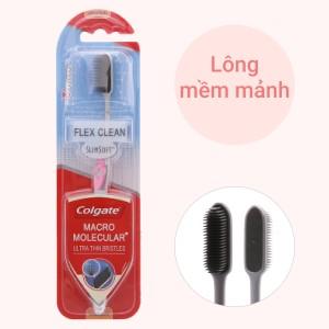 Bàn chải đánh răng Colgate Flex Clean Charcoal lông chải nguyên khối