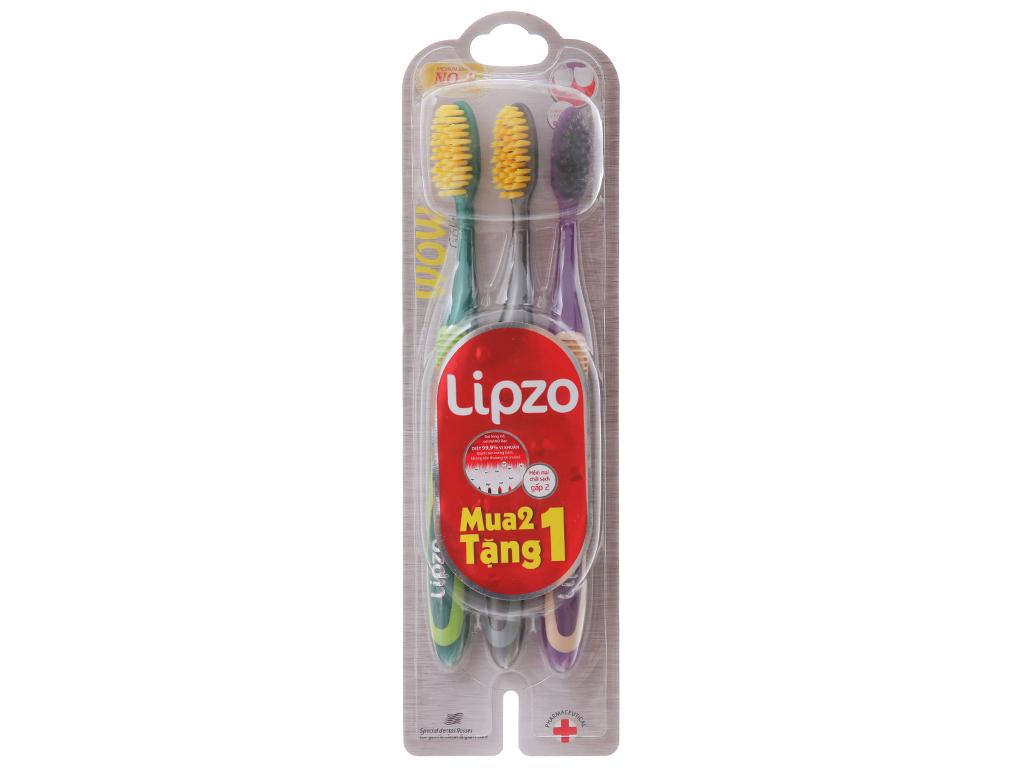 Bộ 3 bàn chải Lipzo Wow Gold lông chỉ tơ 2