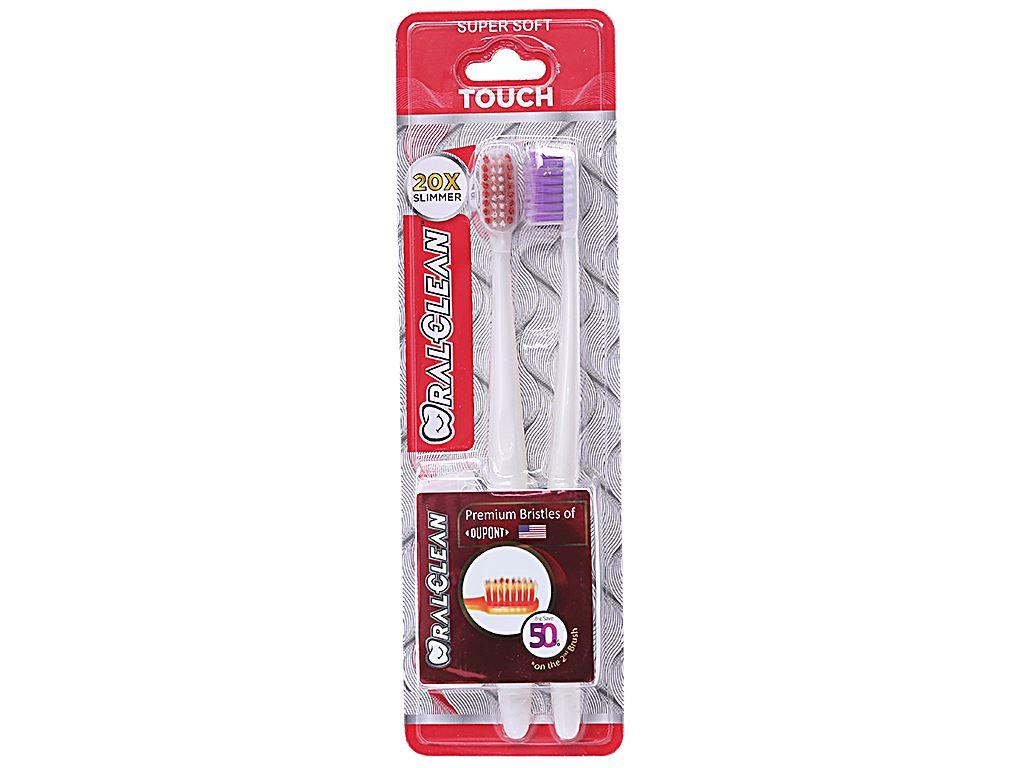 Bộ 2 bàn chải lông mềm Oral-Clean Touch Slim Soft 1