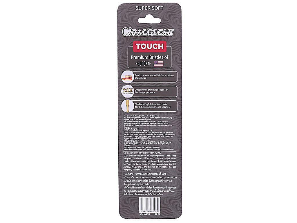 Bộ 2 bàn chải lông mềm Oral-Clean Touch Slim Soft 2