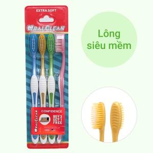 Bộ 4 bàn chải Oral-Clean Confidence lông siêu mềm