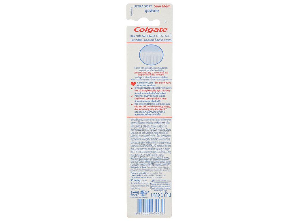 Bàn chải đánh răng Colgate Ultra Soft siêu mềm 8