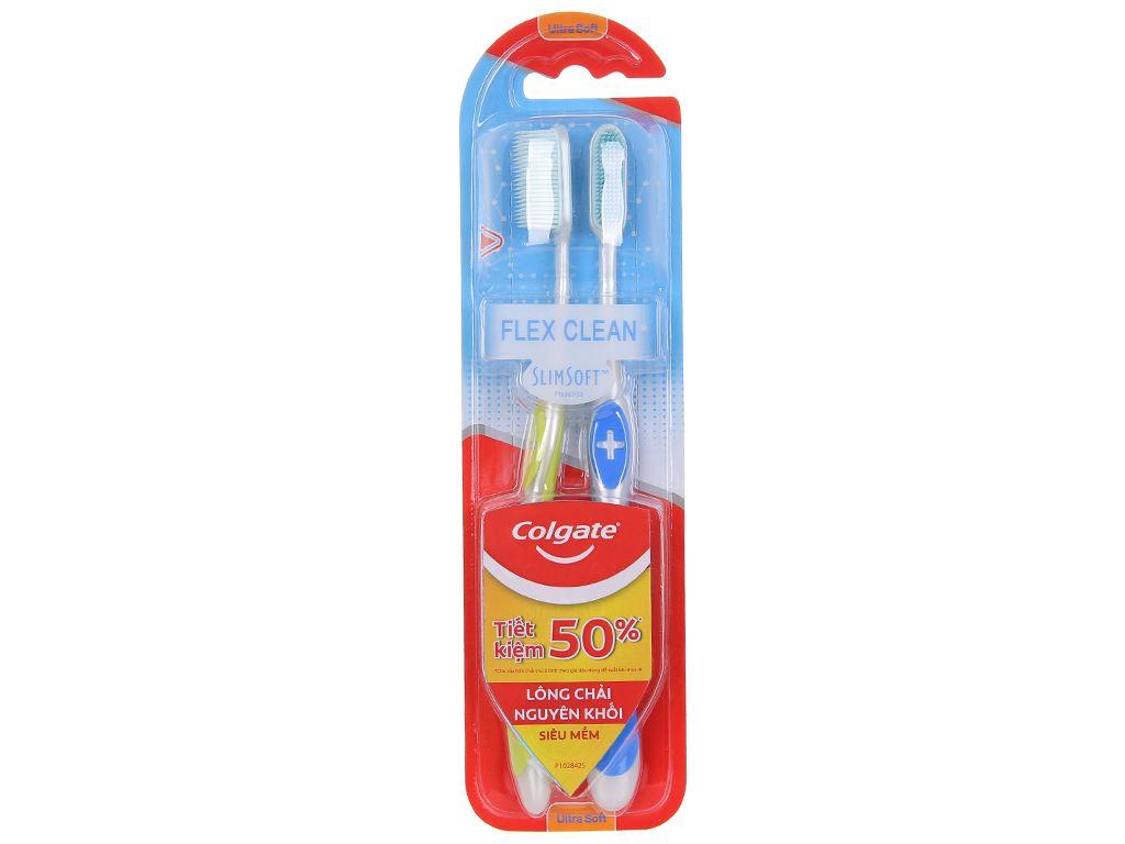 Bộ 2 bàn chải đánh răng Colgate SlimSoft Flex Clean 1
