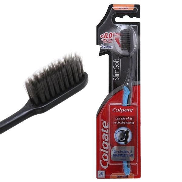Bàn chải Colgate SlimSoft Charcoal 119603 siêu mềm mảnh