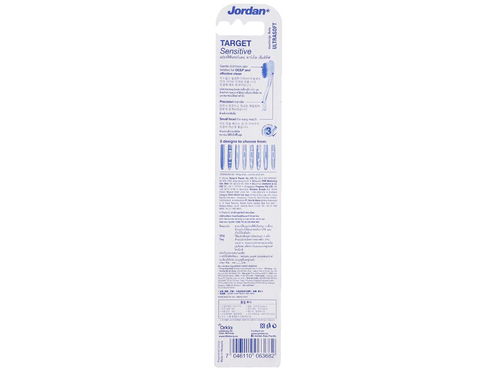 Bàn chải Jordan Target Sensitive lông siêu mềm 3