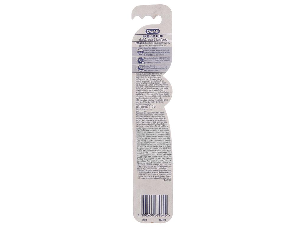 Bàn chải Oral-B Micro-Thin Clean siêu mềm mảnh 3