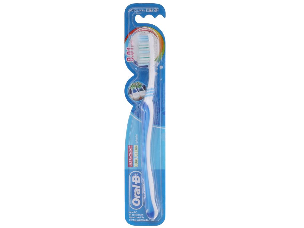 Bàn chải Oral-B Dual Clean lông siêu mềm 2
