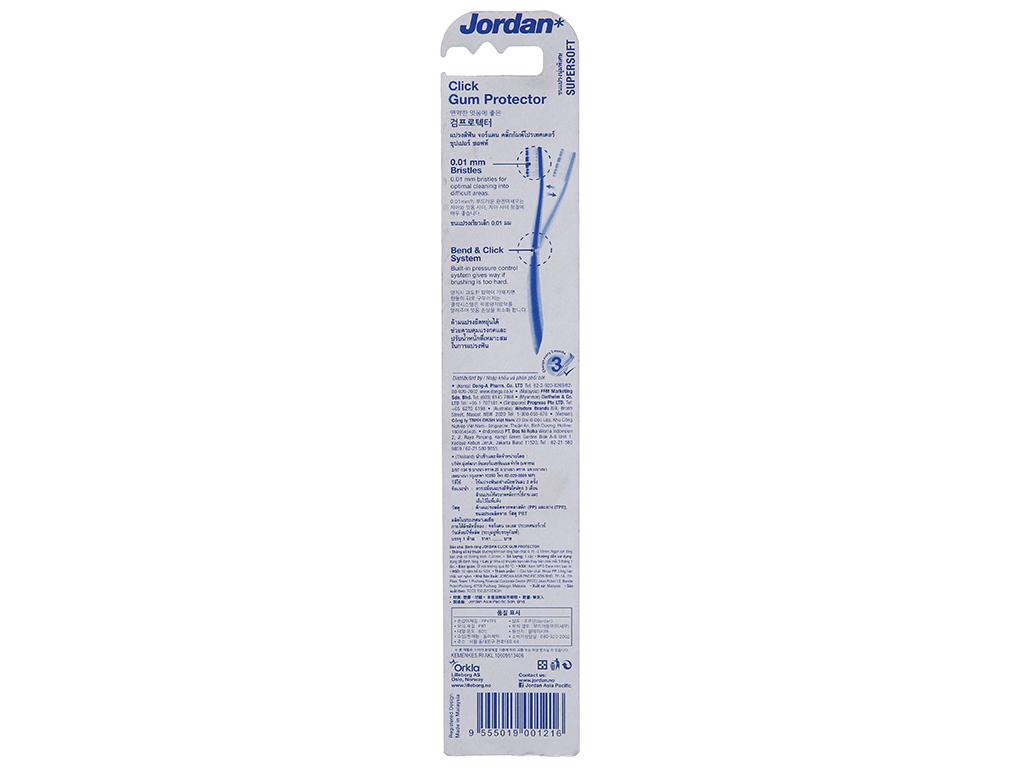 Bàn chải Jordan Click Gum Protector siêu mềm mảnh 3