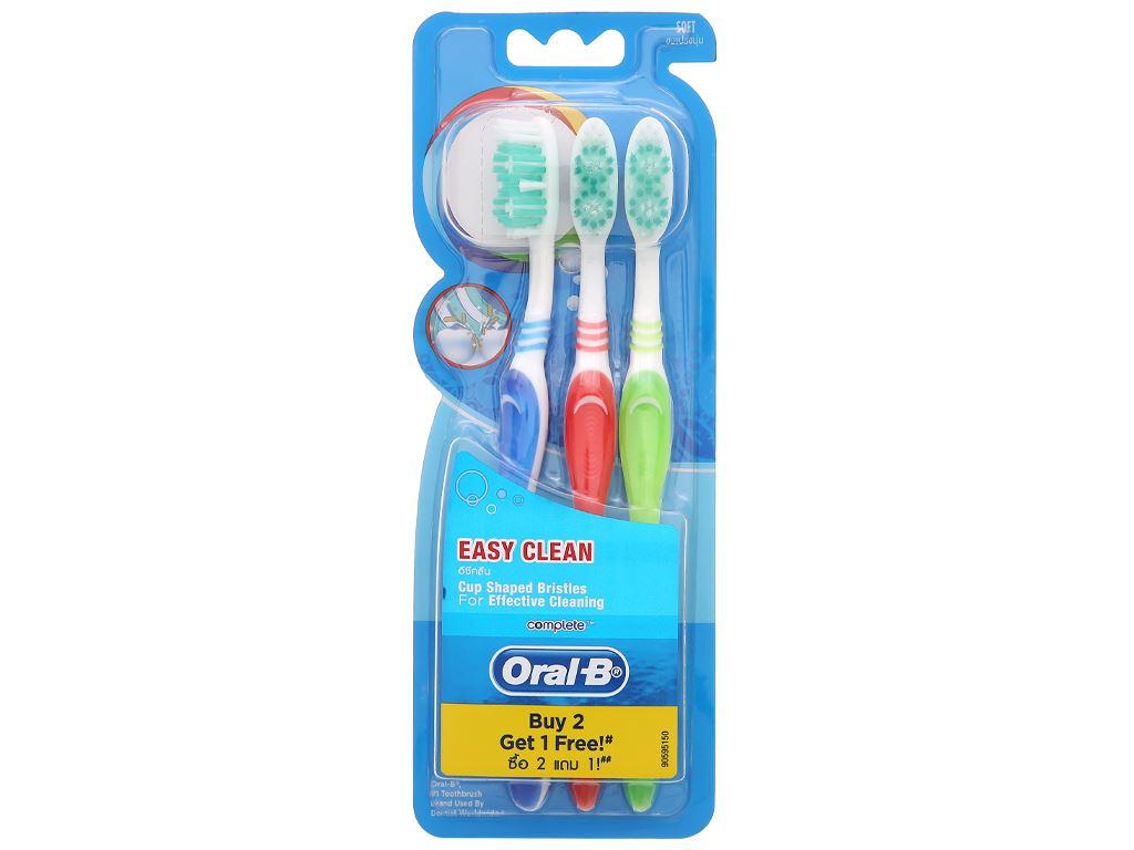 Bộ 3 bàn chải Oral-B Easy Clean lông mềm 5