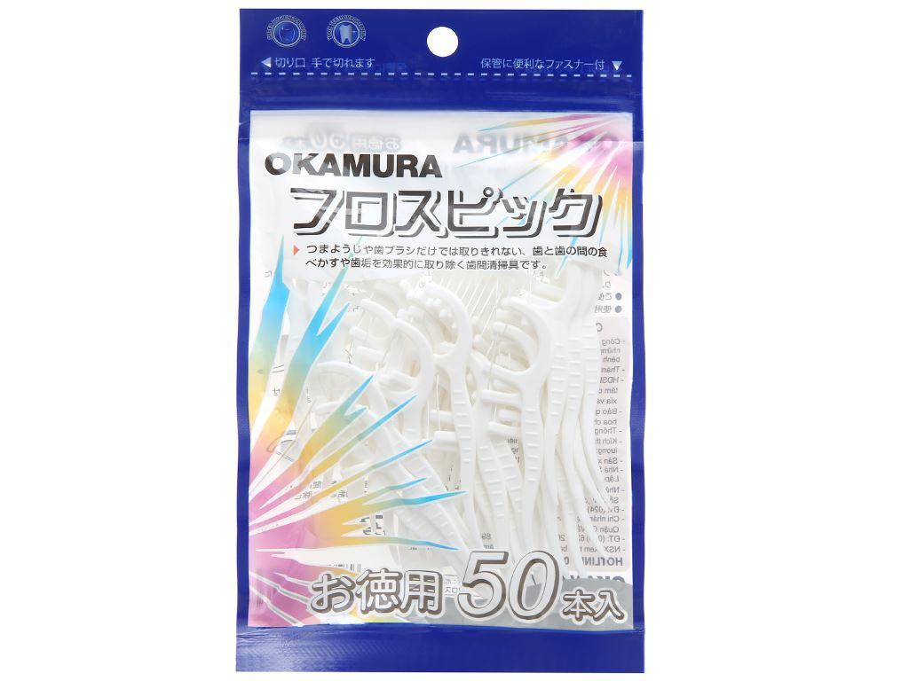 Tăm chỉ nha khoa Okamura gói 50 cái 1