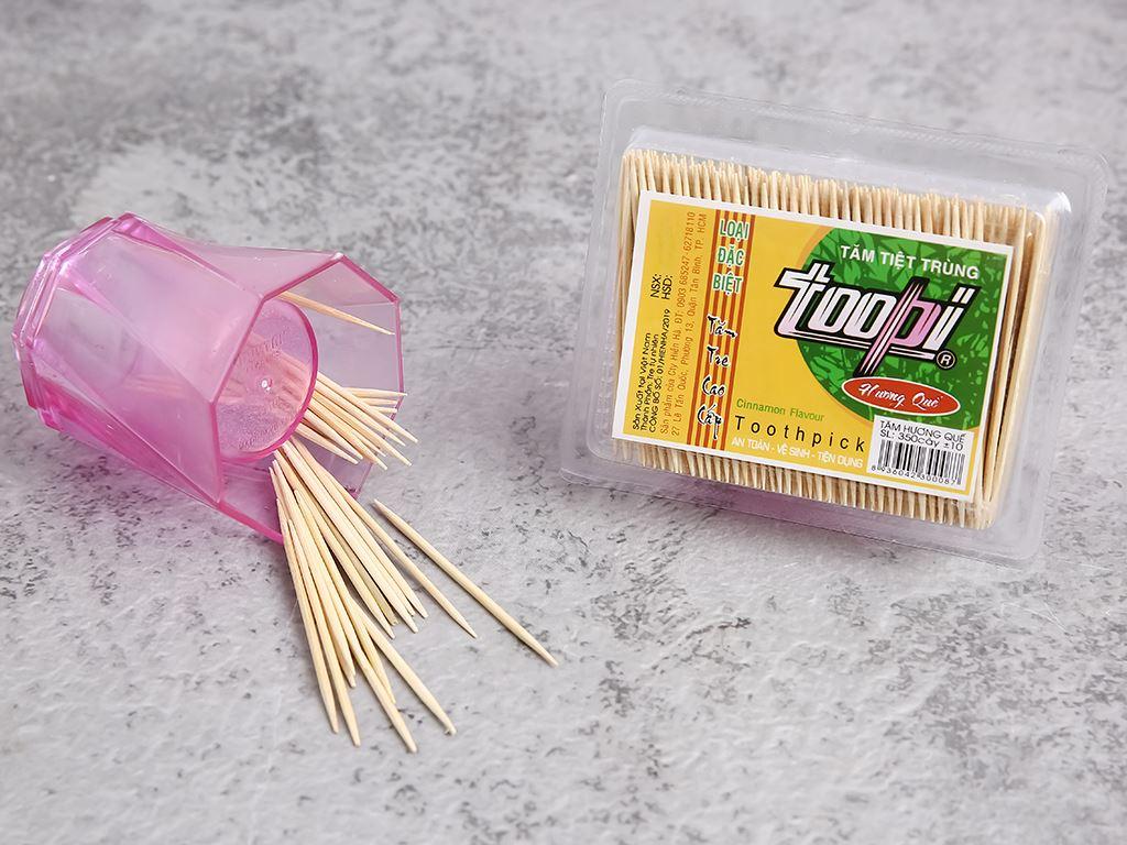 Tăm tiệt trùng Toopi hương quế nhãn vàng 350 cây 3