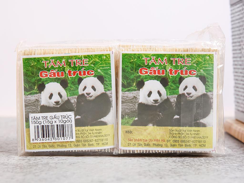 Tăm tre Gấu Trúc 150g (10 gói x 15g) 1