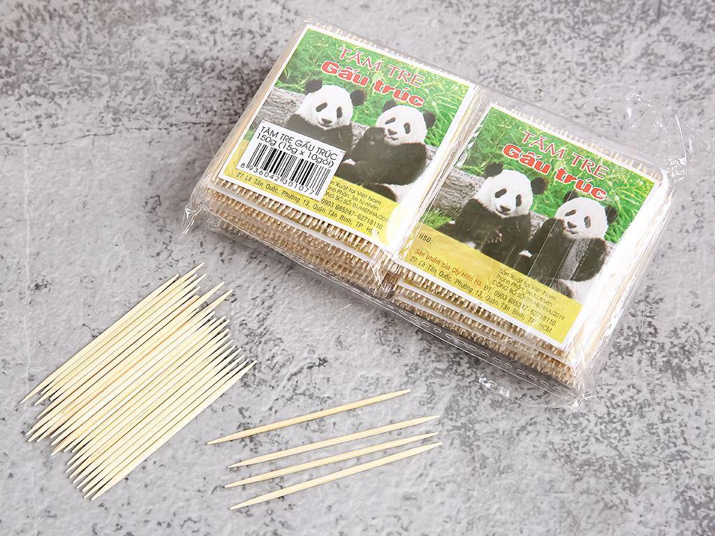 Tăm tre Gấu Trúc 150g (10 gói x 15g) 2
