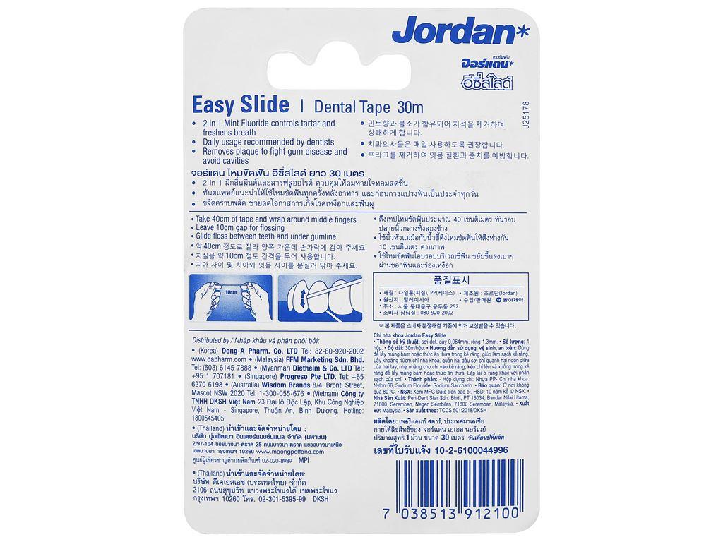 Chỉ nha khoa Jordan Eassy Slide 30m 2