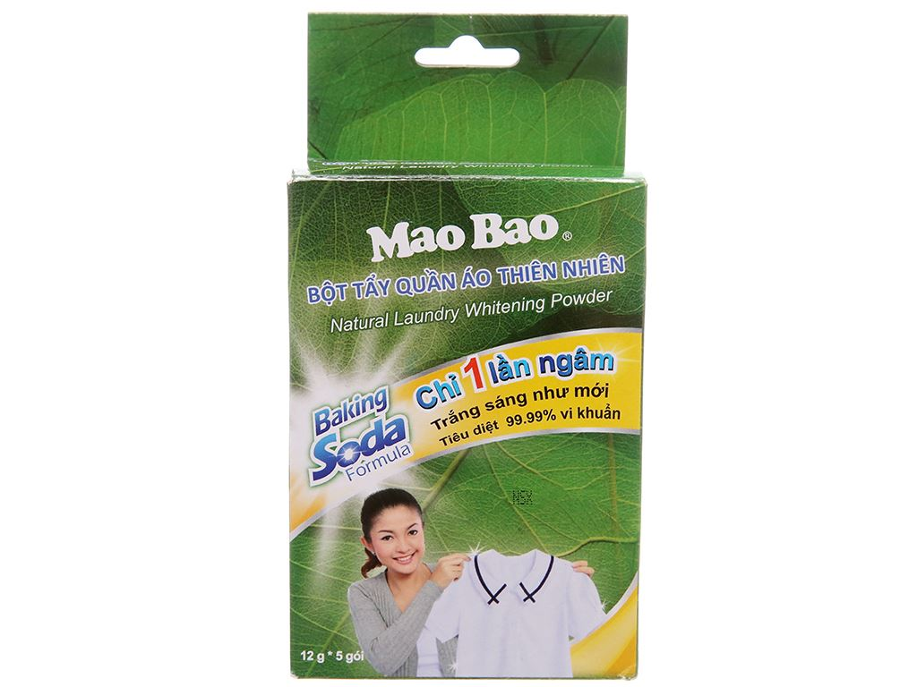 Bột tẩy quần áo trắng Mao Bao 12g x 5 gói 1