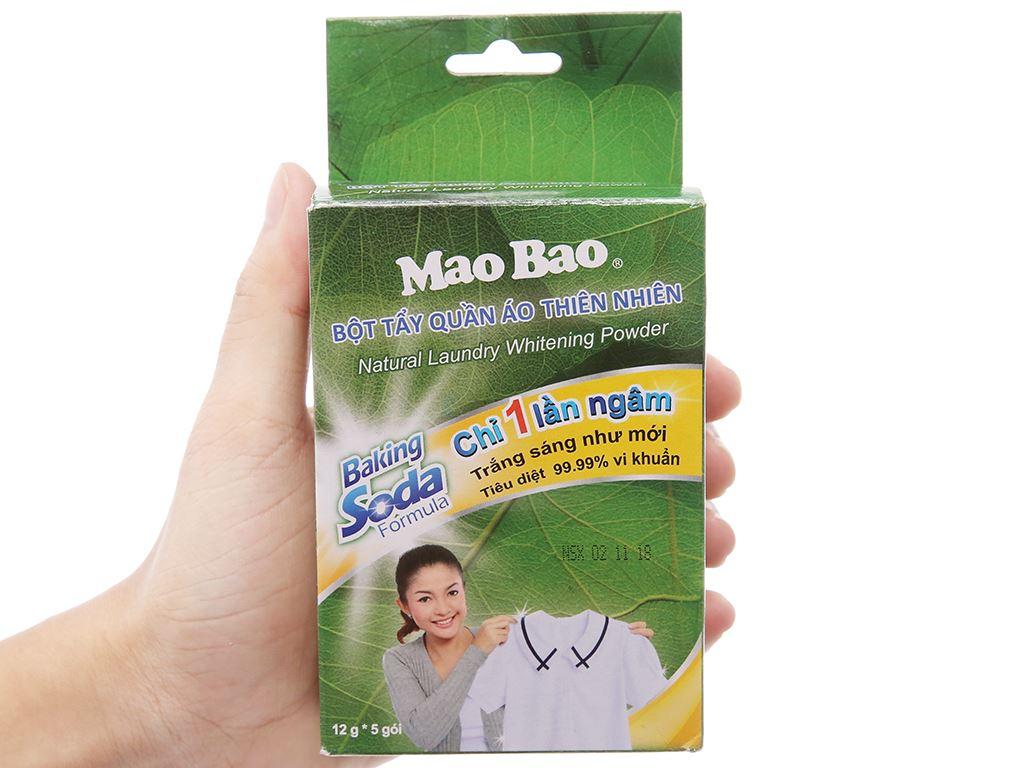 Bột tẩy quần áo trắng Mao Bao 12g x 5 gói 3