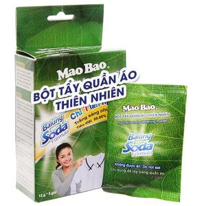 Hộp 5 gói bột tẩy quần áo trắng Mao Bao 12g
