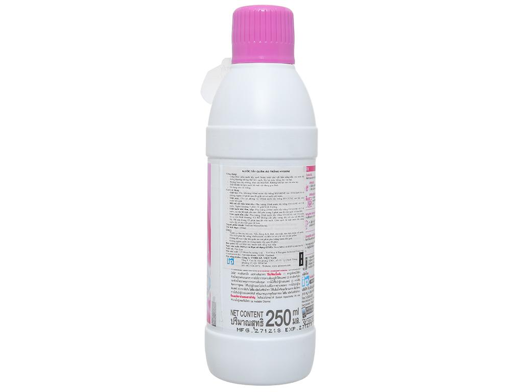 Nước tẩy quần áo trắng Hygiene 250ml 4
