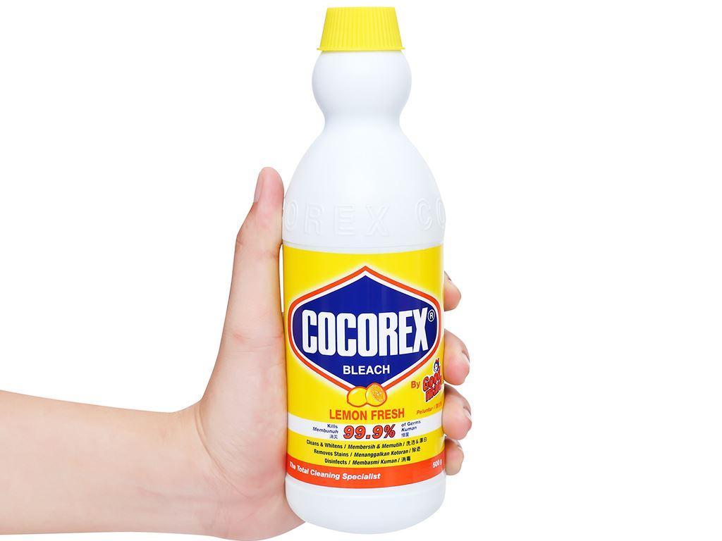 Nước tẩy quần áo trắng Cocorex Lemon Fresh 500g 4