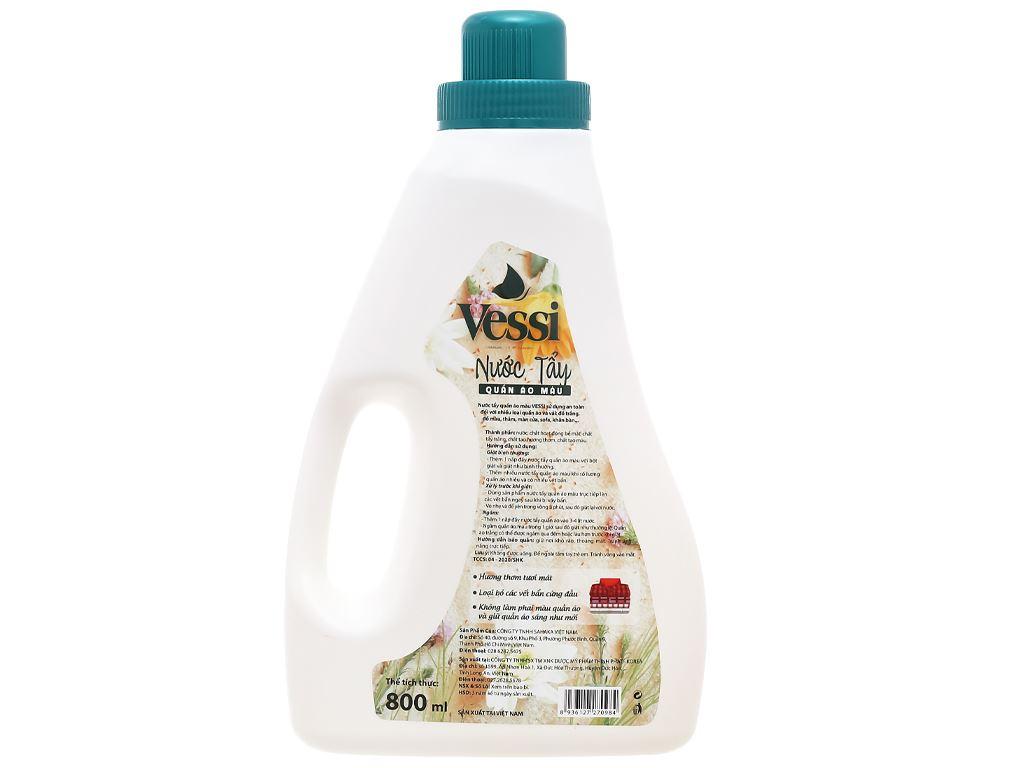 Nước tẩy quần áo màu Vessi hương hoa cỏ 800ml 2