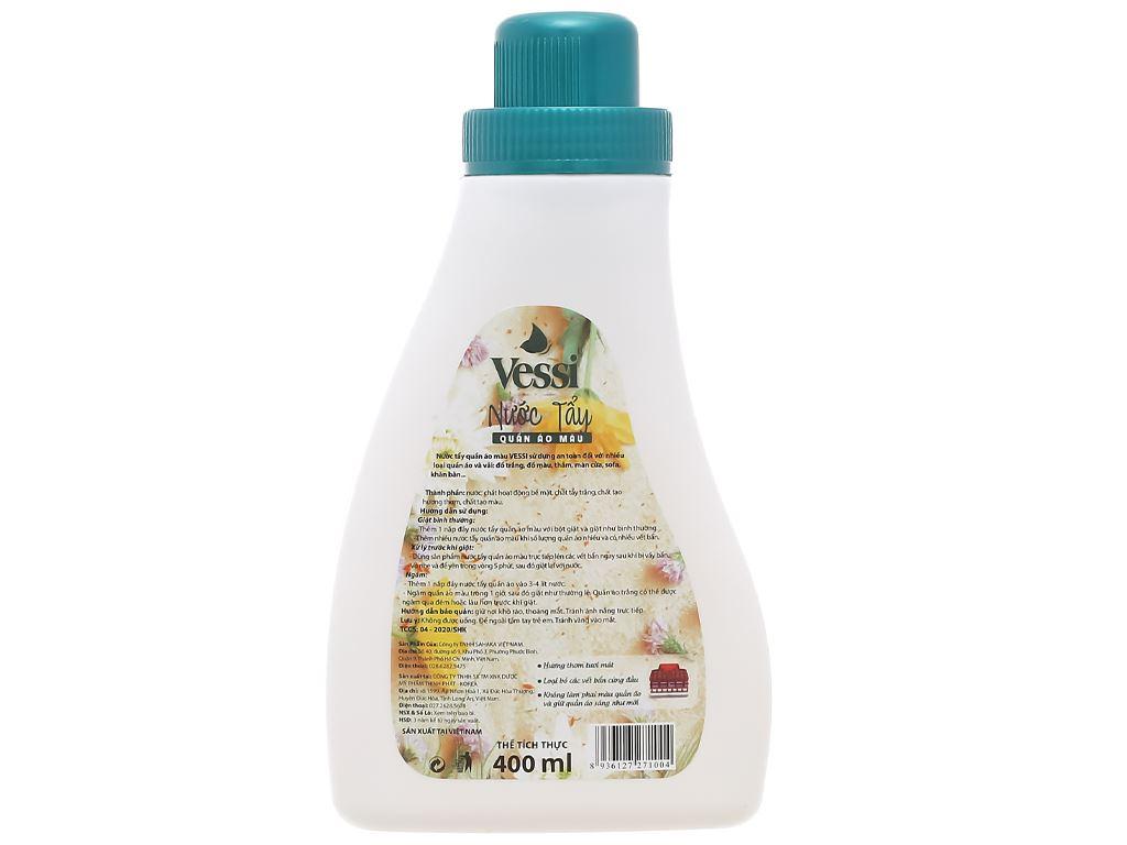 Nước tẩy quần áo màu Vessi hương hoa cỏ 400ml 2